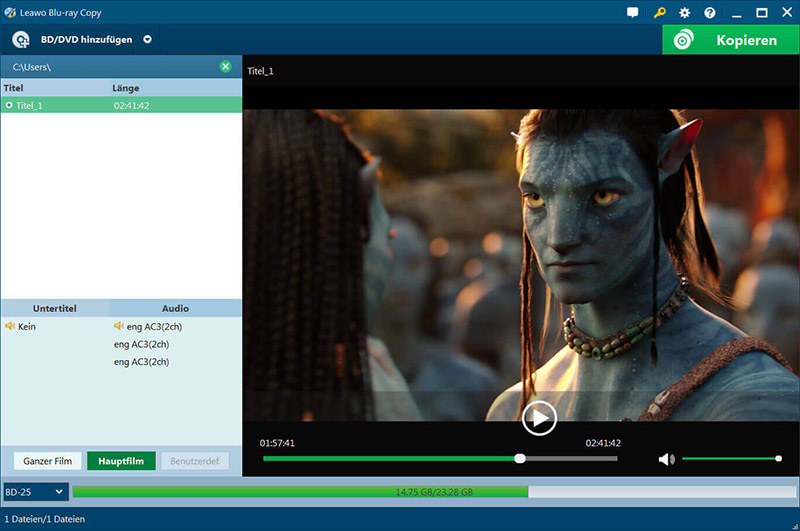 Blu ray copy tool to copy Blu ray to disc file folder or ISO image file. great Screen Shot